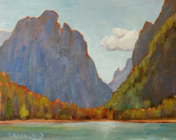 SOLD Lago di Dobbiaco 8x10, plein air