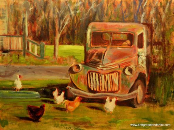 Chicken Antics 18x24
