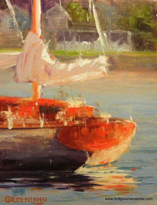 Boat in Gig Harbor 14x11