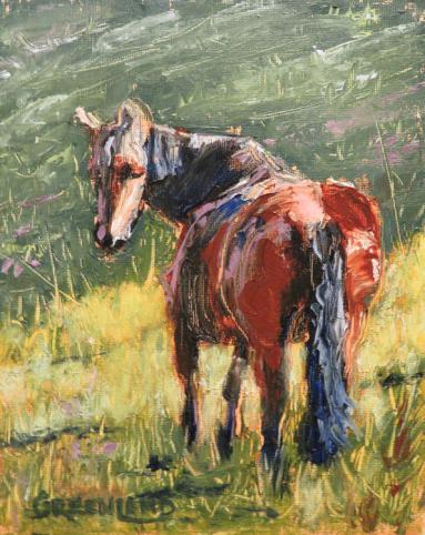 horsedowntheroad10x8