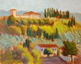 SOLD Groves and Vinyards 8x10, plein air